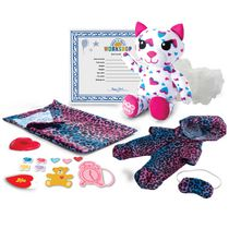 Build-A-Bear Workshop Furry Fashions Sleepy Kitty Plush Toy