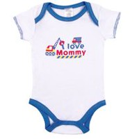 Kushies Baby Creeper - I Love Mommy Short Sleeve Bodysuit 0-3 months
