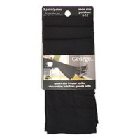 George Queen Size Trouser Socks - 3 pairs Black