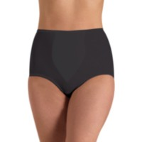 Cupid Intimates Women's Value Light Control Brief with Panel - Pack of 2 Black M