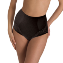 Cupid Intimates Women's Value Lace Firm Control Brief - Pack of 2 Black M