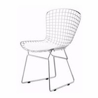Chaise Bertoia Nicer Furniture en blanc