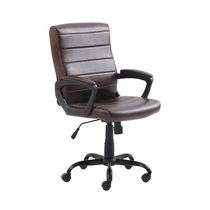 Mainstays Bonded Leather Mid-Back Manager's Office Chair, brown