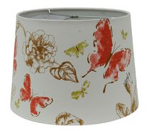 Home Trends 13'' Red Butterfly Lamp Shade