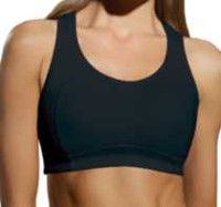 BESTFORM® High Performance sport - 97065980 - 2 Ply Front for Support Wire-free Bra Black 36