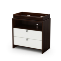 South Shore Cookie Changing Table Mocha & White, Model # 3471332