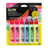 Tulip® Dimensional Fabric Paint 6-pack Glow