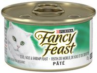 Purina® Fancy Feast® Pate Cod, Sole & Shrimp Feast Cat Food 85g Can