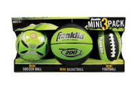 Franklin Sports 3 Pack Mini Ball Set