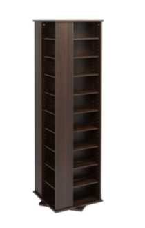 Large 4-Sided Spinning Tower Dark Brown