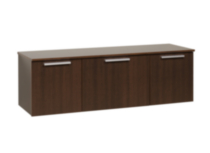 Coal Harbor Wall Mounted Buffet Dark Brown