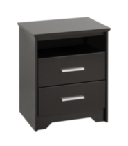 Coal Harbor Tall Night Stand Black