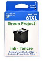 Cartouche d'encre noire remise a à neuf HP61 XL Green Project, (H-61XLBK)
