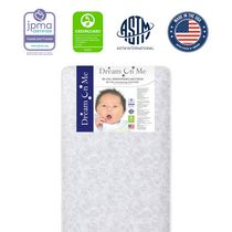 """Dream On Me, Twinkle 6"""" 88 Coil Crib And Toddler Bed Mattress"""