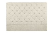 Home Gear Diamond Button Tufted Upholstered Countess Headboard Beige