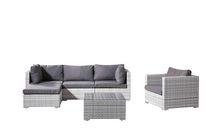 Velago Fresco Deluxe 6-Piece All-Weather Wicker Sectional Set, Light Grey