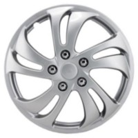"15"" Silver Sport Wheel Cover 4 pack"
