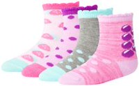 George baby Girls' 4-Pack Crew Socks