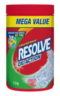RESOLVE® IN WASH: OXI-ACTION Powder 1.5kg
