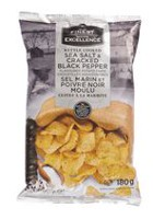 Our Finest Kettle Cooked Sea Salt & Cracked Black Pepper Flavoured Potato Chips