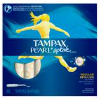 Tampax Pearl Active Plastic Regular Unscented Tampons