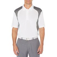 Ben Hogan Men's Performance Heather Print Golf Polo Shirt White M