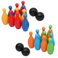 Play Day 10 Pin Mini Bowling Set (Colors May Vary)
