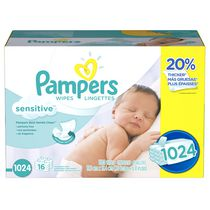 Pampers Baby Wipes Sensitive 16X Pack