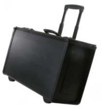 "Stebco, Black Tuffide Catalogue Case on Wheels, 22.25"" Width , 251622BLK"