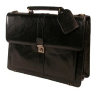 Stebco, Structured Flapover Top Grain Leather Case, 367061 Black