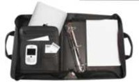 "Bond Street, Ballistic Nylon Electronic Device Carrier/Business Organizer with Removable 3"" Binder Portfolio, 465500BLK"