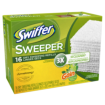 Swiffer Sweeper Dry Sweeping Cloths Mop and Broom Floor Cleaner Refills Gain Original Scent