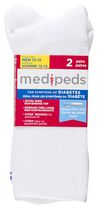 Medipeds Men's 2 Pack X-Wide Crew Socks