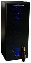 Refroidisseur à vin électrique Koolatron, modèle WC50, dispose deux zones de refroidissement réglables et une capacité de refroidir jusqu'à 50 bouteilles