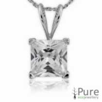 7mm CZ Princess Pendant