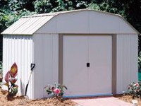 Arrow Lexington Barn Style Taupe/Eggshell Steel Storage Shed