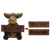 "Mainstays 12.75"" Welcome Moose Lawn Ornament"