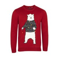 George Men's X-Mas Light-up Sweater Red L
