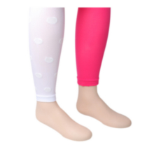 2 pk Footless Tights 10-12