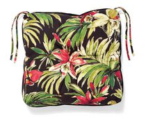 hometrends Seat Cushion, Black Floral