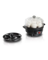 Hamilton Beach Egg Cooker with Built-In Timer and Poaching Tray,