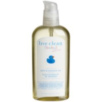 Live Clean Baby & Mommy Safflower Oil Bath and Massage Oil