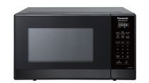 Panasonic NNSG448S Compact 0.9 cft. Microwave, Stainless Steel with Black Glass Door