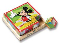 Melissa & Doug Mickey Mouse Clubhouse Wooden Cube Puzzle
