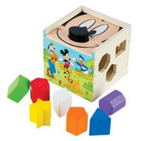 Melissa & Doug Disney Baby Mickey & Friends Wooden Shape Sorting Cube