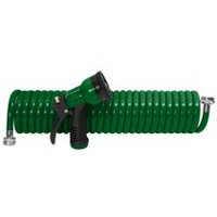 Grow IT! 50 ft. Coiled Watering Hose Green