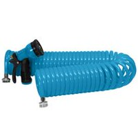 Grow IT! 50 ft. Coiled Watering Hose Blue