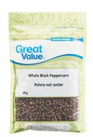 Great Value Whole Black Peppercorn Spice