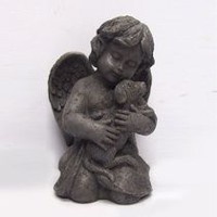 hometrends Cherub Statue with Dog