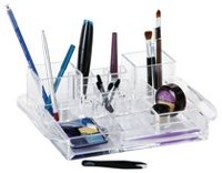 Caboodles Crystal Clear Two Tower Cosmetic Tray